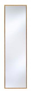 Casa Padrino Luxus Spiegel mit natufarbenem Holzrahmen 35 x H. 130 cm - Wohnzimmer Wandspiegel