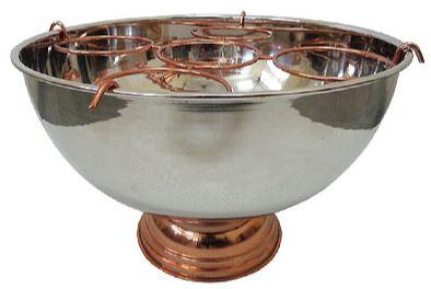 Massiver Luxus Tisch Weinkühler / Sektkühler vernickelt für 5 Flaschen aus dem Hause Casa Padrino