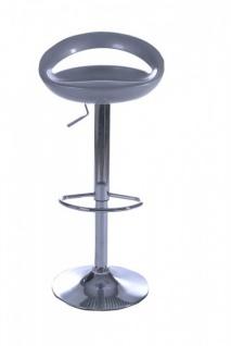 Casa Padrino Designer ABS Plastik Barstuhl Silber, höhenverstellbar, drehbar - Barhocker - Vorschau 1