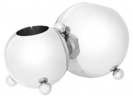 Casa Padrino Designer Edelstahl Flaschenhalter Silber 45 x 25, 5 x H. 25, 5 cm - Flaschenhalter für 2 Flaschen - Luxus Accessoires