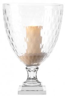 Casa Padrino Luxus Glas Kerzenleuchter 27 x H. 39 cm - Luxus Qualität