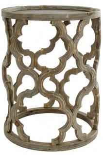 Casa Padrino Designer Beistelltisch Braun Ø 40 x H. 54 cm - Moderner Runder Holztisch