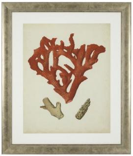 Casa Padrino Bilder / Kunstdruck 6er Set Korallen Antik Rot / Antik Silber 57, 5 x H. 68 cm - Luxus Deko - Vorschau 4