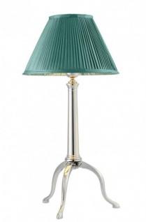 Casa Padrino Art Deco Luxus Tischleuchte Nickel Durchmesser 26 x H 46 cm - Luxury Collection