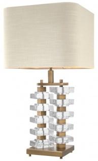 Casa Padrino Tischleuchte mit naturfarbenem Lampenschirm 27 x 40 x H. 77 cm - Luxus Hotel & Restaurant Möbel
