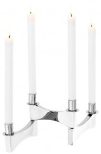 Casa Padrino Luxus Kerzenhalter Silber 42 x 17 x H. 16 cm - Designer Accessoires