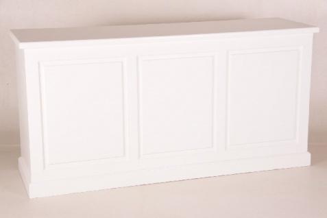 Casa Padrino Shabby Chic Landhaus Stil Theken Schrank Weiß B 200 H 99 cm Theke Ladentheke Ladeneinrichtung