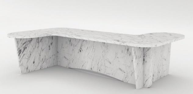 Casa Padrino Luxus Marmor Couchtisch Weiß 140 x 70 x H. 35 cm - Rechteckiger Wohnzimmertisch aus hochwertigem spanischen Carrara Marmor - Luxus Möbel