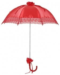 MySchirm Designer Brautschirm Hochzeitsschirm aus rotem Satin - Decoschirm