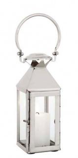 Casa Padrino Designer Edelstahl Laterne mit Griff 10 x 10 x H. 44 cm - Luxus Accessoires