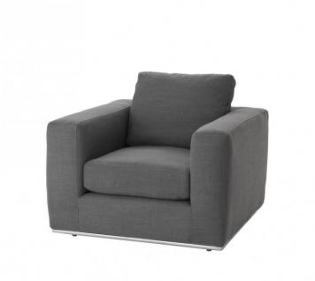 Casa Padrino Luxus Art Deco Kiefernholz Sessel Grau - Luxus Sessel