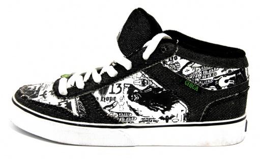 C1rca Skateboard Schuhe 8 Track Black / White - Sneakers Turnschuhe Sneaker