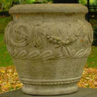 Casa Padrino Barock Blumentopf Ø 59 x H. 66 cm - Runder Prunkvoller Pflanzentopf im Barockstil - Special!