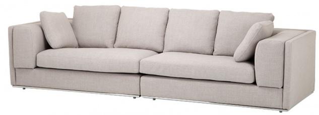 Casa Padrino Sofa Sandfarbig 290 x 111 x H. 80 cm - Luxus Kollektion