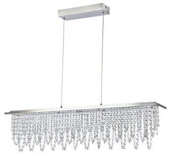 Casa Padrino Kristall LED-Hängeleuchte Silber 85 x H. 22 cm - Wohnzimmer Leuchte