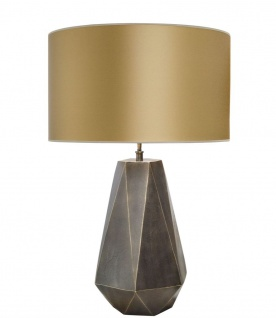 Casa Padrino Luxus Tischlampe in messing mit goldenen Lampenschirm 60 x H. 93 cm - Hotel Restaurant Lampen