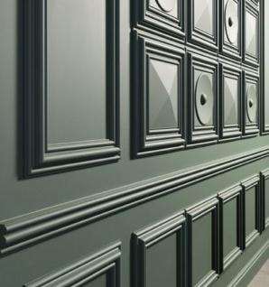 Casa Padrino 3D Paneel Weiß 33, 3 x 3, 5 x H. 33, 3 cm - Wandpaneel - Deckenpaneel - Wanddeko im Barockstil - Vorschau 3