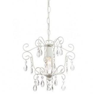 Casa Padrino Barock Decken Kristall Kronleuchter Weiß Durchmesser 30 x H 30 cm Antik Stil - Möbel Lüster Leuchter Deckenleuchte Hängelampe