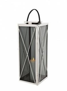 Casa Padrino Designer Deco Laterne Nickel Finish 30 x 30 x H. 83 cm - Luxus Hotel Restaurant Laterne - Vorschau