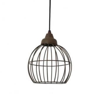 Casa Padrino Hängeleuchte Deckenleuchte Bronze Industrial Design Durchmesser 20 x H 25 cm - Industrie Lampe Leuchte Industrieleuchte