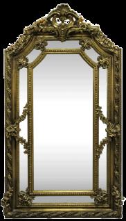 Casa Padrino Barock Wandspiegel Gold 115 x H. 215 cm - Prunkvoller Barock Spiegel mit wunderschönen Verzierungen - Möbel im Barockstil