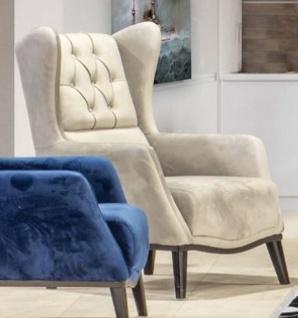 Casa Padrino Chesterfield Ohrensessel Grau / Schwarz 80 x 80 x H. 90 cm - Moderner Wohnzimmer Sessel - Chesterfield Möbel - Wohnzimmer Möbel