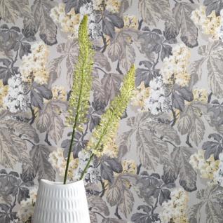 Casa Padrino Barock Vliestapete mit Blumenmuster Grau / Silber / Beige / Weiß 10, 05 x 0, 52 m - Deko Accessoires - Vorschau 2
