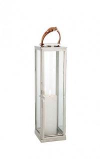 Casa Padrino Designer Deco Laterne Nickel Finish 19 x 19 x H. 70 cm - Luxus Qualität