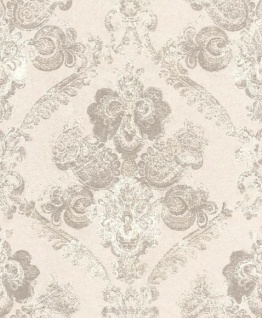 Casa Padrino Barock Textiltapete Creme / Grau 10, 05 x 0, 53 m - Wohnzimmer Deko Accessoires