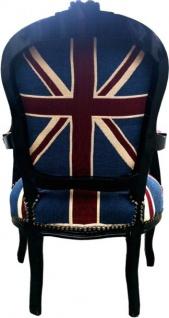 Casa Padrino Barock Salon Stuhl Union Jack Design / Schwarz - Vorschau 3