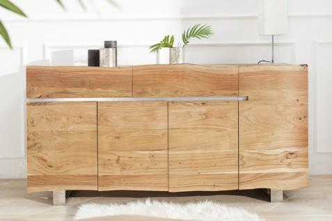 Casa Padrino Luxus Sideboard Natur B.170 x H.90 x T.45 - Fernsehschrank - Kommode - Handgefertigt aus massivem Akazienholz! - Vorschau 5