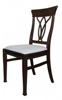 Casa Padrino Biedermeier Esszimmer Stuhl ohne Armlehne Beige / Braun - Möbel Restaurant Hotel Gastronomie Bestuhlung - Vorschau 2