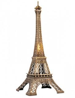 Casa Padrino Luxus Standleuchte Eiffelturm Messingfarben - Massives Metall - Leuchte Lampe - Tischleuchte Tischlampe, Stehleuchte, Stehlampe
