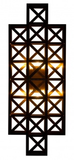 Casa Padrino Designer Wandleuchte Messing 22 x 14 x H. 57 cm - Hotel Möbel