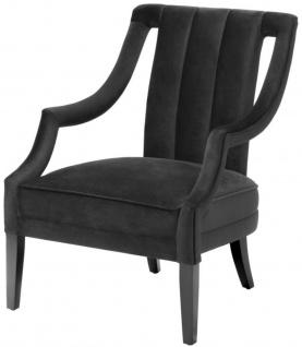 Casa Padrino Luxus Sessel Schwarz 70 x 80 x H. 95 cm - Luxus Qualität