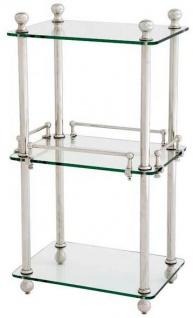 Casa Padrino Luxus Badezimmer Regalschrank Silber - Designer Möbel