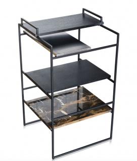 Casa Padrino Luxus Designer Beistelltisch Schwarz 45 x 45 x H. 80, 5 cm - Designer Möbel - Vorschau 3