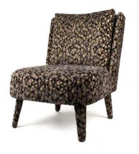 Casa Padrino Luxus Sessel Schwarz / Gold 70 x 85 x H. 90 cm - Lounge Sessel