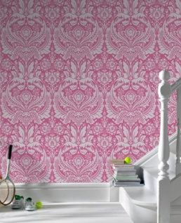 Graham & Brown Barock Tapete Desire 50-024 Pink / Silber