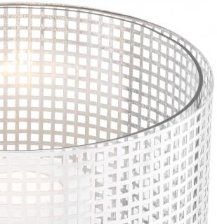 Casa Padrino Luxus Kerzenleuchter Silber Ø 25, 5 x H. 25 cm - Runder Kerzenleuchter aus Edelstahl und Glas - Luxus Deko Accessoires - Vorschau 5