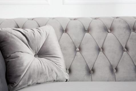 Casa Padrino Chesterfield Sofa in Silbergrau 230 x 90 x H. 79 cm - Designer Chesterfield Sofa - Vorschau 2