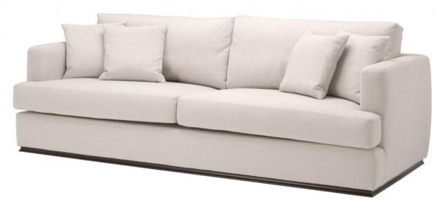 Casa Padrino Wohnzimmer Sofa Naturfarbig 234 x 103 x H. 86 cm - Luxus Qualität