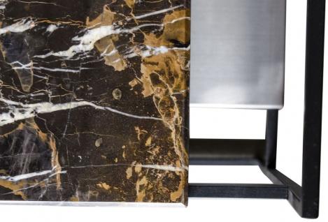 Casa Padrino Luxus Couchtisch Schwarz 100 x 100 x H. 39, 5 cm - Designer Wohnzimmertisch - Vorschau 5