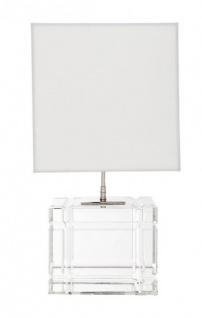 Casa Padrino Luxus Tischleuchte Nickel Durchmesser 23 x 30 x H 57 cm - Luxus Leuchte