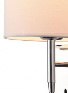 Casa Padrino Wandleuchte Silber / Creme 16 x 16 x H. 35 cm - Wandlampe mit flexiblem Leselicht - Vorschau 3