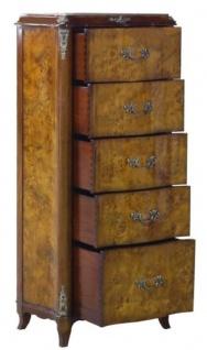 Casa Padrino Luxus Barock Kommode mit 5 Schubladen Hellbraun / Braun 56 x 36 x H. 128 cm - Barockmöbel - Vorschau 4