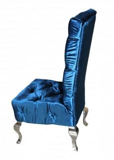 Casa Padrino Barock Esszimmer Stuhl Türkis / Silber - Designer Stuhl - Luxus Qualität Hochlehnstuhl Hochlehner - Vorschau 2