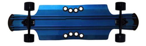 Beercan Boards Longboard Cruiser Komplettboard Kegger Lite 40 Blue - Aluminium Skateboard Long Board