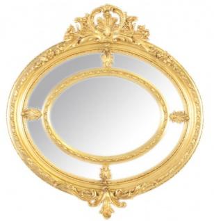 Casa Padrino Barock Wandspiegel Rund Gold 130 x 130 cm - Edel & Prunkvoll - Goldener Spiegel - Vorschau