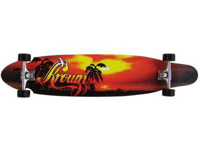 Krown Longboard Komplettboard Skateboard Hawaiian Fury Kicktail